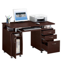 Modern Computer Desk with Drawers and Hanging File Cabinet