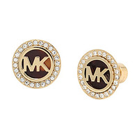 Michael Kors MK Logo Tortoise Stud Earrings | Dillards.com