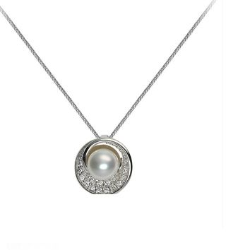 Punk Vintage Imitation Pearl Shell Short Chain Necklace