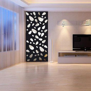 VONFC9 3d wall stickers mirror wall stickers home decor living room Home Decor Mural Decal vinilos paredes