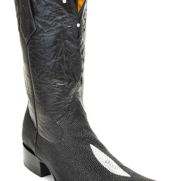 Gavel Handcrafted Spanish Toe Collection Black Sting Ray Cowboy Boots