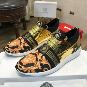 Versace Women Men Fashion Casual Sneakers Sport Shoes