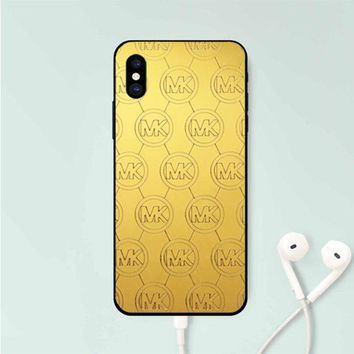 MICHAEL KORS GOLD CLEAR IPHONE X
