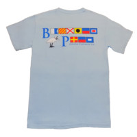 Bayview Signal Flags in Skyway Blue