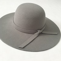 Gray Floppy Felt Hat