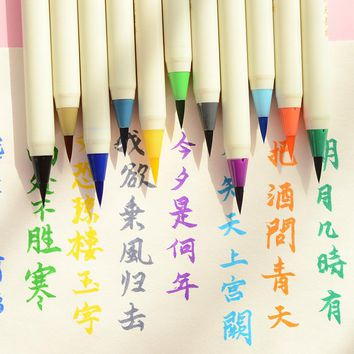 1pcs Japanese Stationery Platinum color soft brush head watercolor pen  calligraphy pen drawing supplies  Marker pen