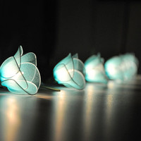 Light Blue flower string lights for party and decoration (20 bulbs)