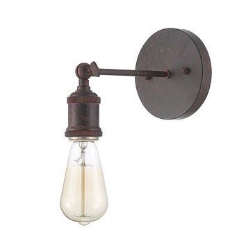 Edison Vintage Light Sconce - Bulb Included, Weathered Rust