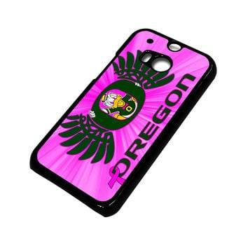 PINK GIRLS OREGON DUCKS HTC One M8 Case Cover