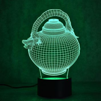 Pitcher Jug 3D LED Night Light Lamp