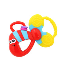 Baby Teether Toys Colorful Fish Teether Baby Rattle Toy 5.1*3.5''