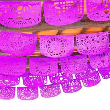 Wedding decor ,5 Pack banners, 60 feet long banner, Fiesta Decorations Garland, Mexican Party Supplies, Papel picado first birthday,