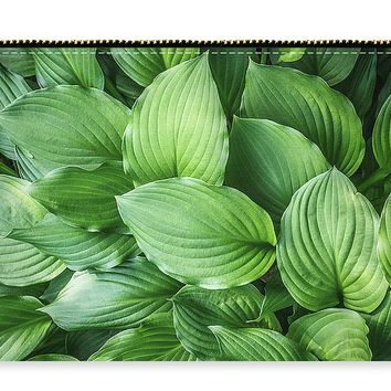 Beautiful Green Arc-shaped Leaves Carry-all Pouch