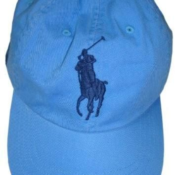 Polo by Ralph Lauren Hat Ball Cap Blue with Big Navy Pony