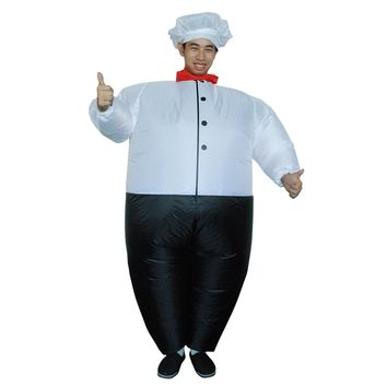 Adult Chef Inflatable Costume Cook Party Dress Halloween Costumes for Women Men