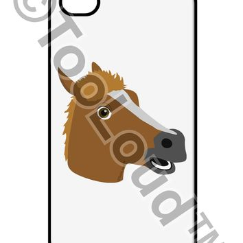 Silly Cartoon Horse Head iPhone 4 / 4S Case  by TooLoud