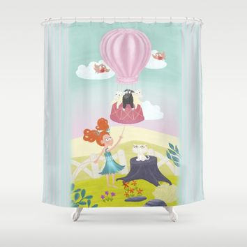 Hot air balloon Shower Curtain by Azure Avenue