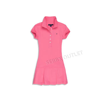 Tommy Hilfiger Dress Pink Short Sleeve Polo Dress
