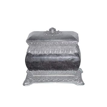Papila Design PB025-CS Classic Crackled Silver Decorative Box