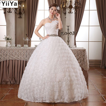 White Princess Fashionable Lace Wedding Dress romantic tulle wedding dresses HS104