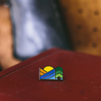 Sunset Enamel Pin