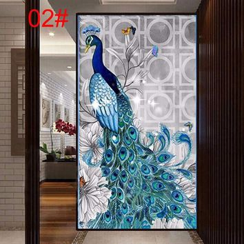 New 5D Diamond Mosaic Painting Peacock Embroidery Cross Stitch Paint Craft Kit