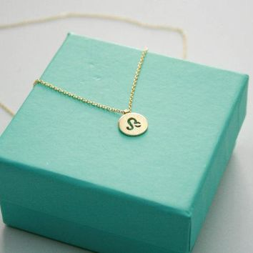 Dainty Zodiac Leo Necklace