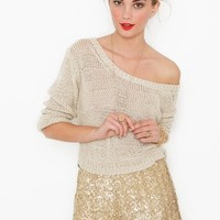 Gold Dust Sequin Shorts in  What's New at Nasty Gal