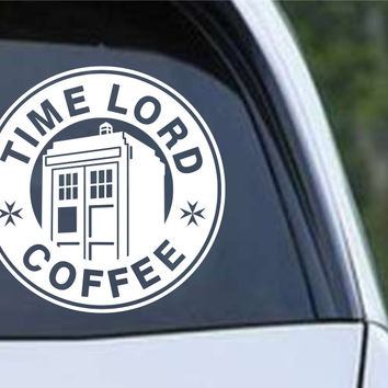 Doctor Who - Time Lord Coffee Die Cut Vinyl Decal Sticker