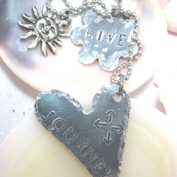 Journey Live Hand Stamped Necklace (41113D)