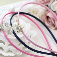 New Girl Fashion Crystal Cabochon Crown Headband Hair clasp Hair band Accessories