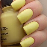 China Glaze Nail Polish Lacquer Lemon Fizz # 80941 14ml 0.5oz
