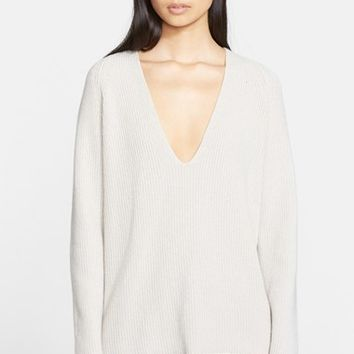 Women's Helmut Lang Cashmere & Wool V-Neck Sweater,