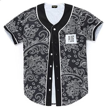 Unisex Baseball Jersey Button Up Shirts