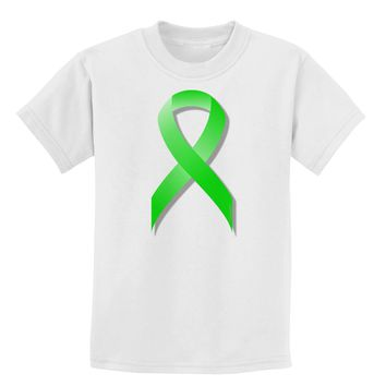 Lyme Disease Awareness Ribbon - Lime Green Childrens T-Shirt