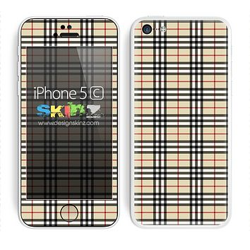 Tan Plaid Skin For The iPhone 5c