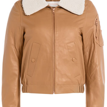 See by Chloé - Leather Bomber Jacket