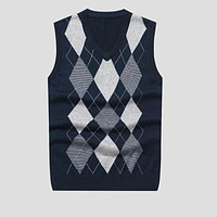 2017 brand design New Autumn Winter Cashmere Classic Vests Sweater Men Sleeveless Sweaters Solid Color V-Neck Wool Pullover