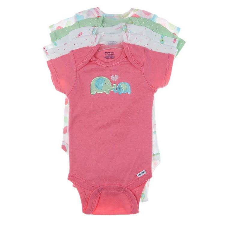 5pk Onesuits 0 3m 378575295 | Bodysuits | from Burlington Coat