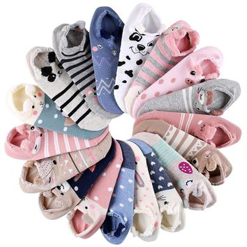 Animals Lovely Fox Pig Socks Funny Crazy Cool Novelty Cute Fun Funky Colorful
