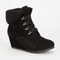 City Classified Nast Womens Booties Black  In Sizes