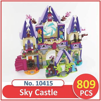 BELA Building Block 10415 Compatible Legoes Elves Skyra's Mysterious Sky Castle 41078 Model Brick Educational Toys For Children