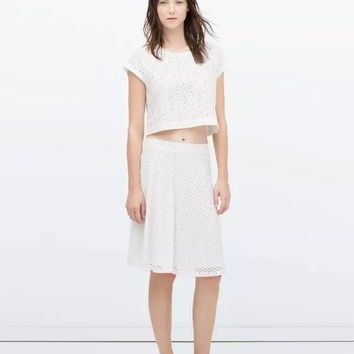 Summer Women's Fashion Lace Skirt [6513342983]