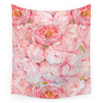 Society6 Tender Bouquet Wall Tapestry