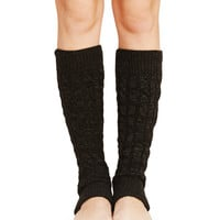 Marled Cable Knit Legwarmers | Wet Seal