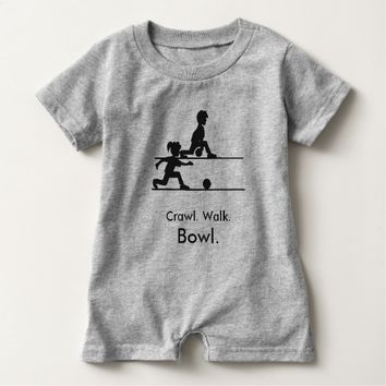 Crawl Walk Bowl Baby Romper