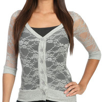 All Over Lace Cardigan | Shop Sweaters at Wet Seal
