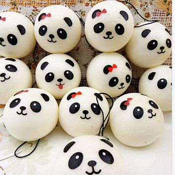 4 cm Jumbo Panda Squishy Charms Kawaii Buns Bread Cell Phone Key/Bag Strap Pendant Squishes Bag Parts & Accessories