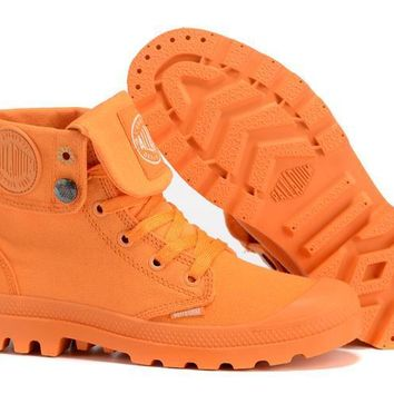 Palladium Baggy Women Turn High Boots Orange - Beauty Ticks