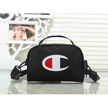 Champion Trending Stylish Canvas Sports Crossbody Satchel Shoulder Bag Black I-XS-PJ-BB
